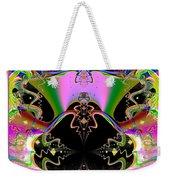 Psychedelic Blackhole Birthday Party Fractal 120 Weekender Tote Bag