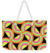 Psychedelic Squares Weekender Tote Bag by Louisa Knight