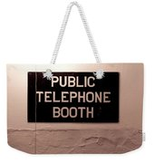 Public Phone Booth Weekender Tote Bag