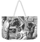 Publius Claudius Pulcher And The Sacred Weekender Tote Bag by Photo Researchers