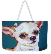 White Chihuahua - Puddy Weekender Tote Bag