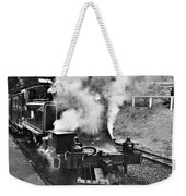 Puffing Billy Black And White Weekender Tote Bag
