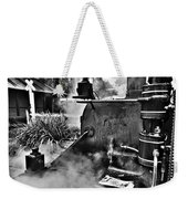 Puffing Billy Black And White V2 Weekender Tote Bag