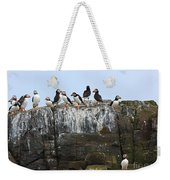 Puffins On A Cliff Edge Weekender Tote Bag