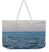 Puffy Clouds On Horizon With Caribbean Weekender Tote Bag