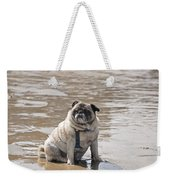 Pug Can't Be Budged Weekender Tote Bag