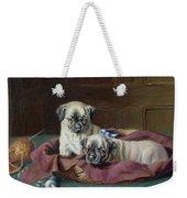 Pug Puppies In A Basket Weekender Tote Bag