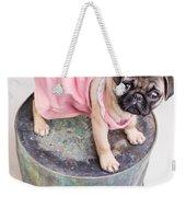 Pug Puppy Pink Sun Dress Weekender Tote Bag
