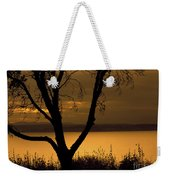Pugent Sound Silhouetted Tree Weekender Tote Bag