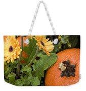 Pumpkin And Gerberas Weekender Tote Bag