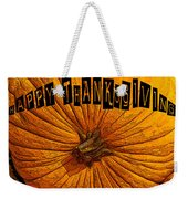 Pumpkin Holiday Weekender Tote Bag