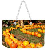 Pumpkin Patch Path Weekender Tote Bag by Carol Groenen