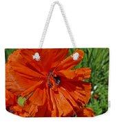 Pumpkin Poppy Weekender Tote Bag