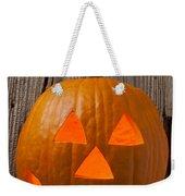 Pumpkin With Wicked Smile Weekender Tote Bag
