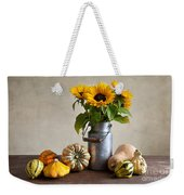 Pumpkins And Sunflowers Weekender Tote Bag