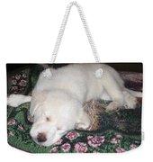 Puppy Nap Weekender Tote Bag