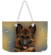 Puppy With Bubbles Weekender Tote Bag