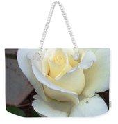 Pure White Rose Weekender Tote Bag