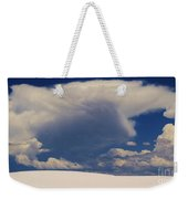 Pure White Sand And Mountain Storms Weekender Tote Bag