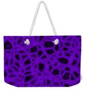 Purple And Blue Abstract Weekender Tote Bag