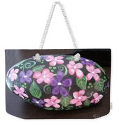Purple And Pink Flowers Weekender Tote Bag