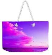 Purple And Pink Weekender Tote Bag