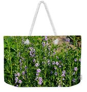 Purple And White Pinwheels Weekender Tote Bag