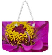 Purple And Yellow Zinnia_9483_4275 Weekender Tote Bag