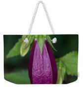 Purple Bell Flower Weekender Tote Bag