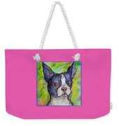 Purple Boston Terrier Weekender Tote Bag