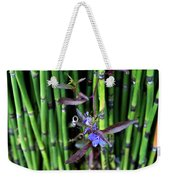 Blue Bursts From Bamboo Weekender Tote Bag