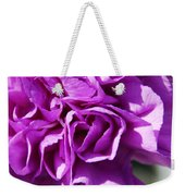 Purple Carnation Weekender Tote Bag