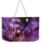 Purple Clematis And Bokeh Weekender Tote Bag