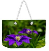 Purple Clematis Flower Weekender Tote Bag