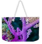 Purple Coral Weekender Tote Bag