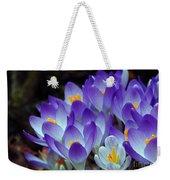 Purple Crocus Cluster Spring Choir Weekender Tote Bag