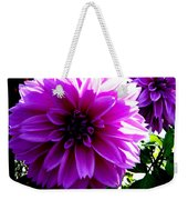 Purple Dahlia Weekender Tote Bag