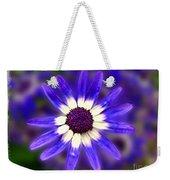 Purple Daisy Photoart Weekender Tote Bag