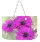 Purple Daisy Trio Watercolor Photoart Weekender Tote Bag