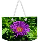Purple Dome New England Aster Weekender Tote Bag