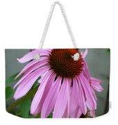 Purple Echinacea Weekender Tote Bag