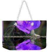 Purple Elegance - Spider Wort Weekender Tote Bag