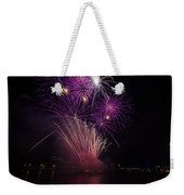 Purple Fireworks Weekender Tote Bag