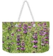Purple Flower Field Weekender Tote Bag