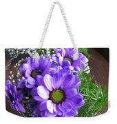 Purple Flowers In The Bubble Weekender Tote Bag