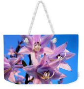 Purple Hosta Blooms Weekender Tote Bag