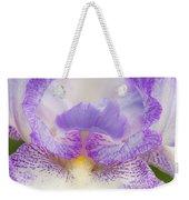 Purple Iris Bliss Weekender Tote Bag