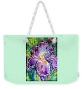 Purple Iris Weekender Tote Bag