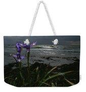 Purple Irises On Beach Weekender Tote Bag