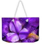 Purple Japanese Iris Weekender Tote Bag